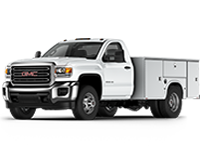 GM Fleet 2018 GMC Sierra 3500HD Chassis Cab truck.