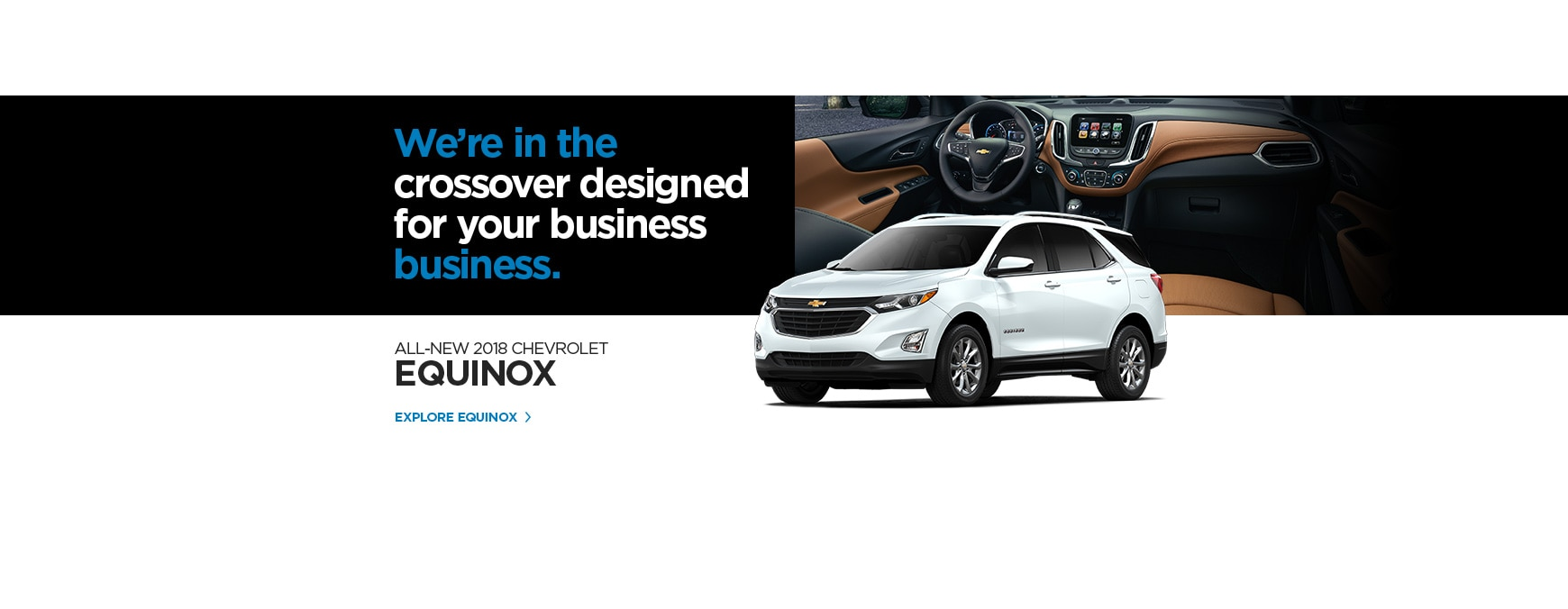 Select the Explore Equinox link to go to the 2018 Chevrolet Equinox page.