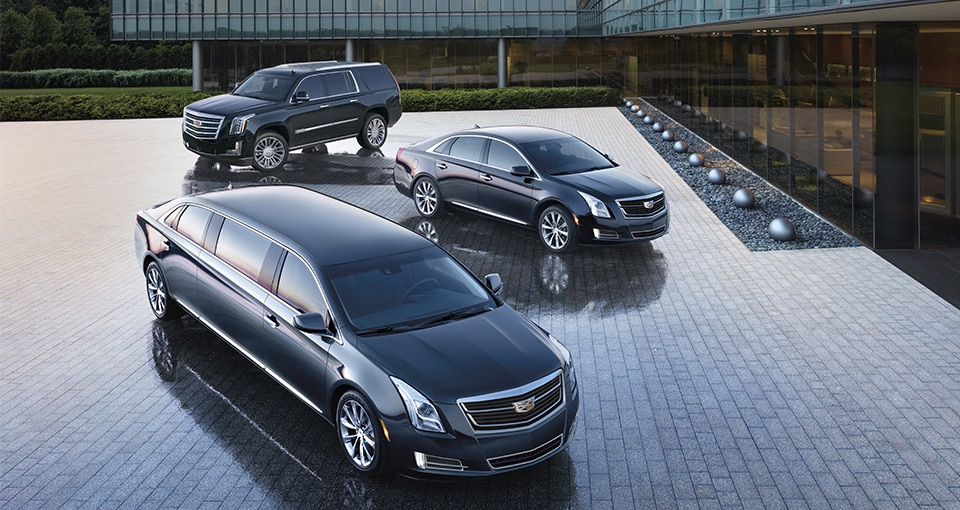 The 2017 Cadillac XTS Livery, Limo and Hearse professional vehicles.