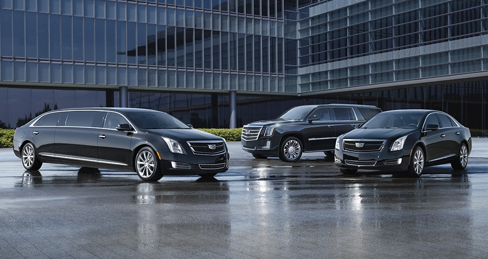 View of the 2017 Cadillac professional lineup of vehicles.