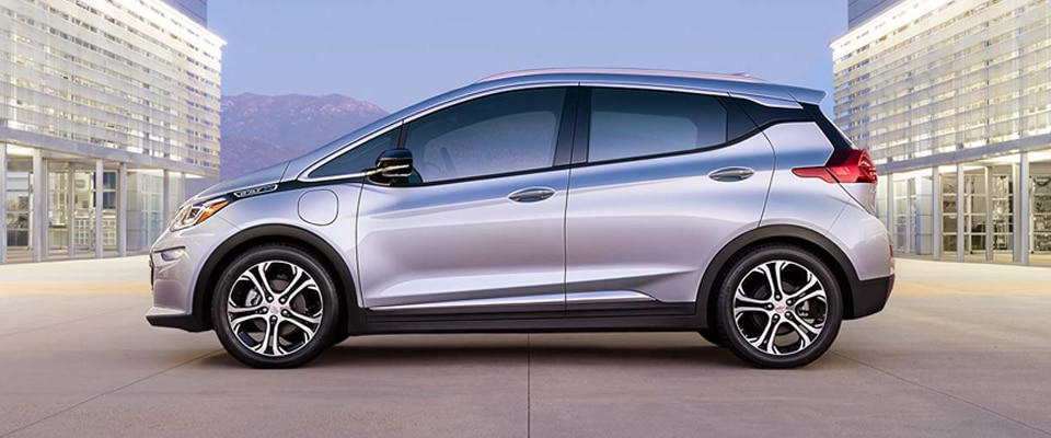 The All-Electric 2017 Chevrolet Bolt EV car.