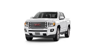 Exterior view of the 2017 GMC Canyon mid-size pickup truck.