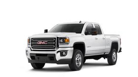 Exterior view of the 2017 GMC Sierra 2500HD heavy duty pickup truck.