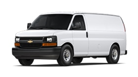 Exterior of the 2017 Chevrolet Express 3500 Cargo van.