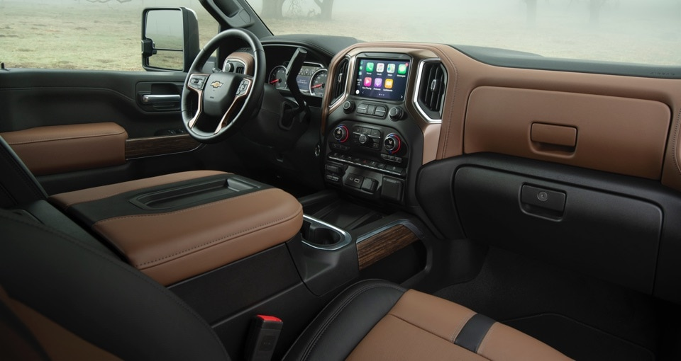 All-New 2020 Chevrolet Silverado 2500HD Truck Interior Front Seating