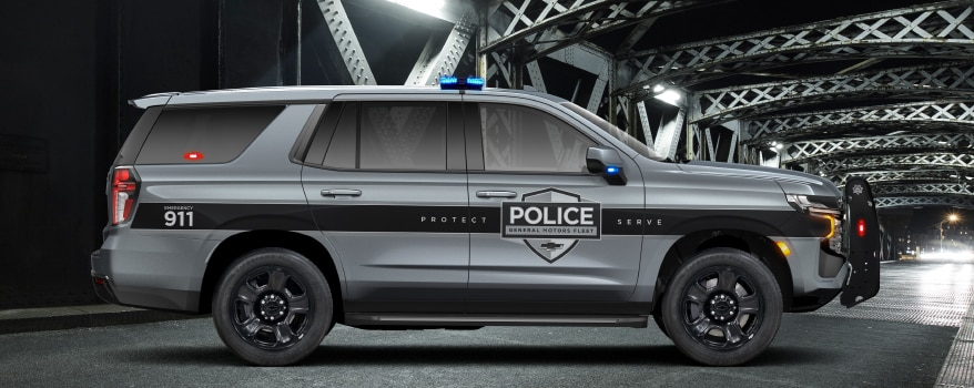 Side exterior view of the 2021 Chevy Tahoe PPV.