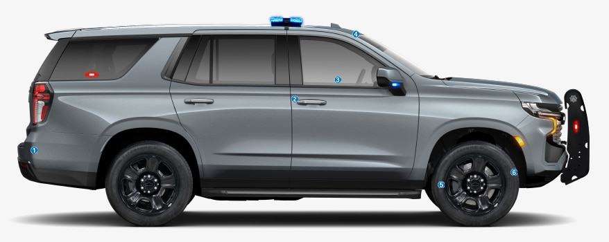 2021 Chevy Tahoe PPV: side exterior view.